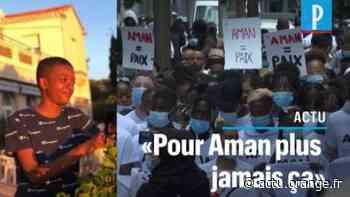 Epinay-sur-Seine: 500 personnes rendent hommage à Aman, 16 ans, tué par balles - Actu Orange