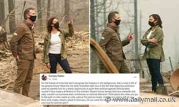 Family accuses Kamala Harris and Gov. Newsom of trespassing on their property for wildfire photo op