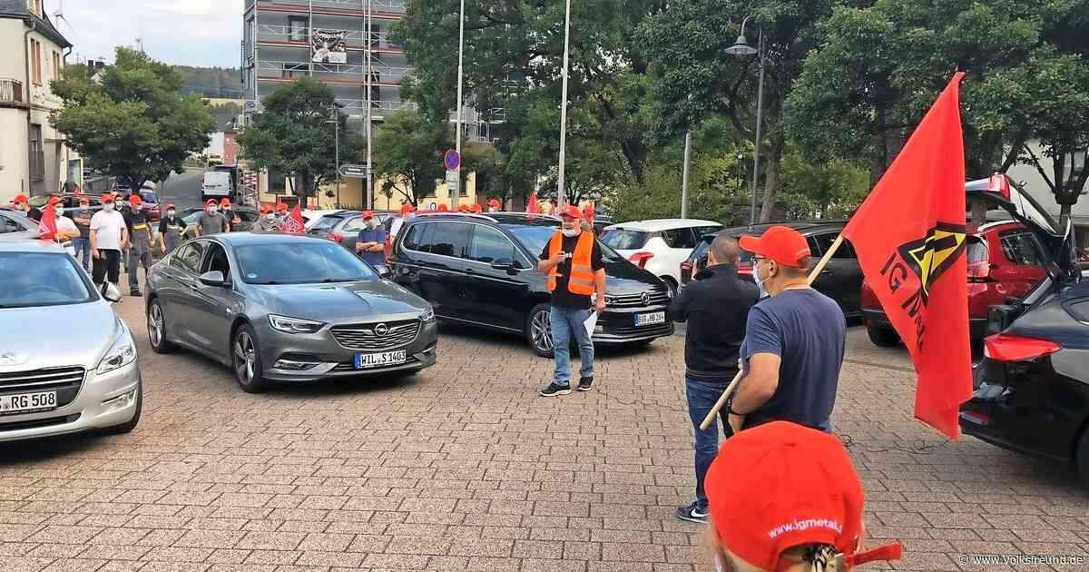 Schaeffler-Stellenstreichungen: Protest am Standort Morbach - Trierischer Volksfreund
