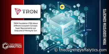 TRON Foundation (TRX) About Different Ecosystem Concepts Super Representative JustSwap and LP Mining for Sun - The Cryptocurrency Analytics