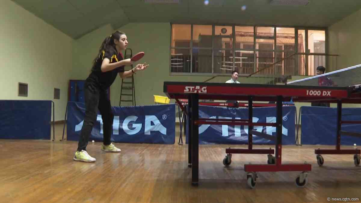 11-year-old Hend Zaza chases her Olympic dream in table tennis - CGTN