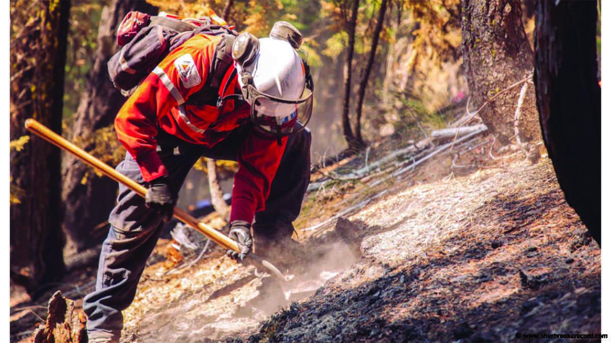 Twenty Quebec wildland firefighters deployed in California - Sherbrooke Record