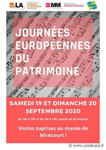 Visites surprises au musée de Mirecourt Musée de la lutherie et de l'archèterie françaises samedi 19 septembre 2020 - Unidivers