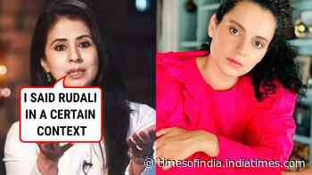 Urmila Matondkar says she is willing to apologise if calling Kangana Ranaut 'rudali' was offensive