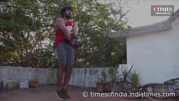Kalaiyarasan sweats it out at the gym for Pa Ranjith's film
