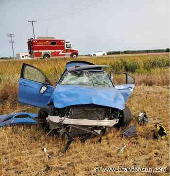 Three injured in rollover near Treherne - Brandon Sun
