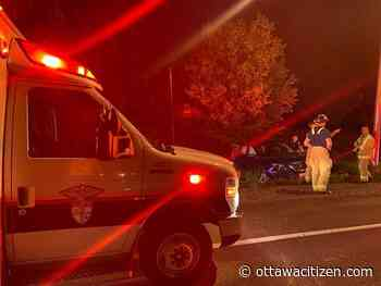 Firefighters free man trapped in ditched vehicle near Manotick - Ottawa Citizen