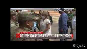 Presidenta Áñez llegó a San Ignacio de Velasco para evaluar los incendios forestales - eju.tv