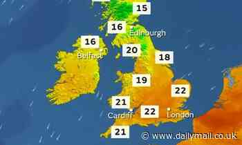 Hot air from Holland will sweep across UK this weekend