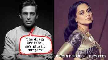Gulshan Devaiah takes a dig at Kangana Ranaut, says 'The drugs are free, so's plastic surgery'