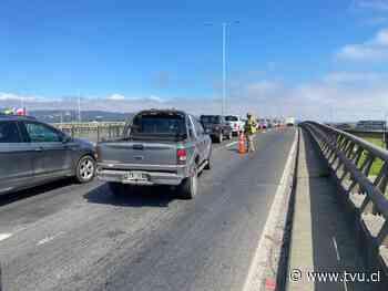 Cuarentena: Así se fiscalizan los permisos en el Puente Llacolén de Concepción - TVU