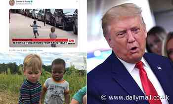 Parents of toddlers who appeared in doctored 'racist baby' video sue the president