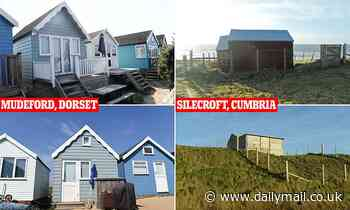 Cabin in Dorset goes on the market for £330,000 while hut on Cumbrian coast sells for just £3,000