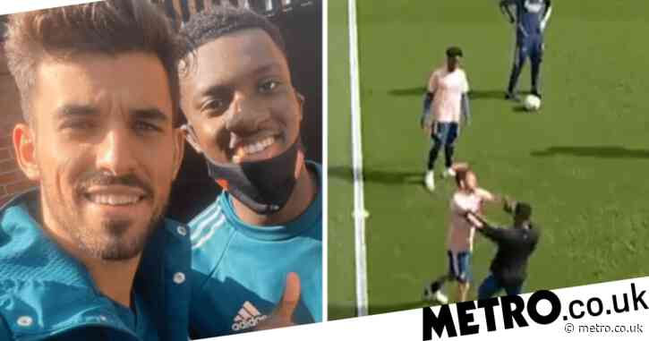 Mikel Arteta speaks out on bust-up between Arsenal team-mates Eddie Nketiah and Dani Ceballos