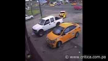 Captan en video impactante colisión en Cativá - Crítica Panamá