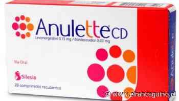 Departamento de Salud de Rengo informa a usuarias de fármaco anticonceptivo Anulette CD. - Diario El Rancagüino