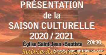 MARSEILLAN - Présentation de la saison culturelle 2020/2021 le 25 septembre à l'église Saint Jean-Baptiste - Hérault-Tribune