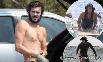 Leighton Meester catches waves again with husband Adam Brody as the pair go surfing in Malibu - Daily Mail