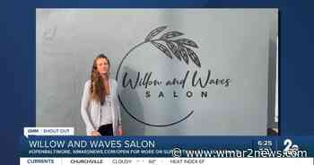 """Willow and Waves Salon in Bel Air says """"We're Open Baltimore!"""" - wmar2news.com"""