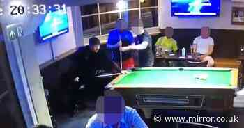 Pool cue thug caught on CCTV battering pub drinker after moving his white ball