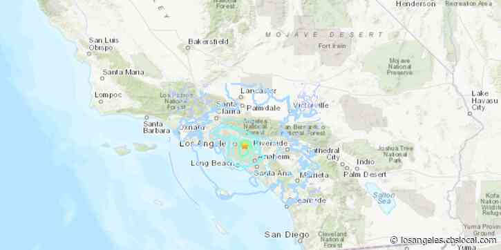 Preliminary Magnitude 4.5 Earthquake Strikes Near South El Monte