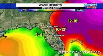 12' waves possible at East Coast beaches Sunday, Monday - WKMG News 6 & ClickOrlando