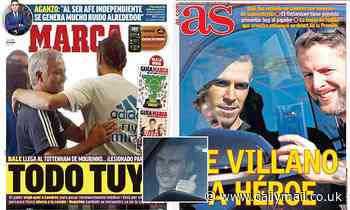 Spanish papers react as Gareth Bale receives rapturous reception at Tottenham's training ground
