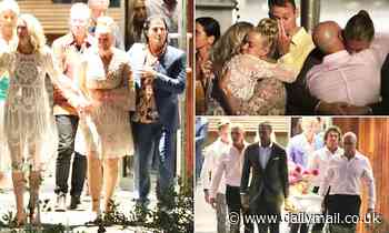 Heartbroken Lisa Curry bursts into tears as her eldest daughter Jaimi's casket is carried out