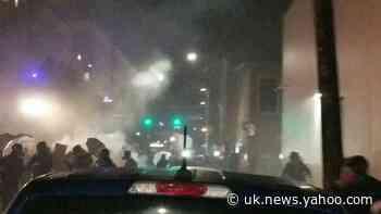 Portland Police Push Back Protesters Near ICE Facility