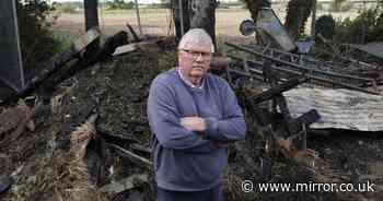 Farmer devastated after animals killed in 'mistaken identity arson attack'