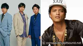 """Bruno Mars Produces J-Pop Group ARASHI's New Song """"Whenever You Call"""": Stream - Consequence of Sound"""