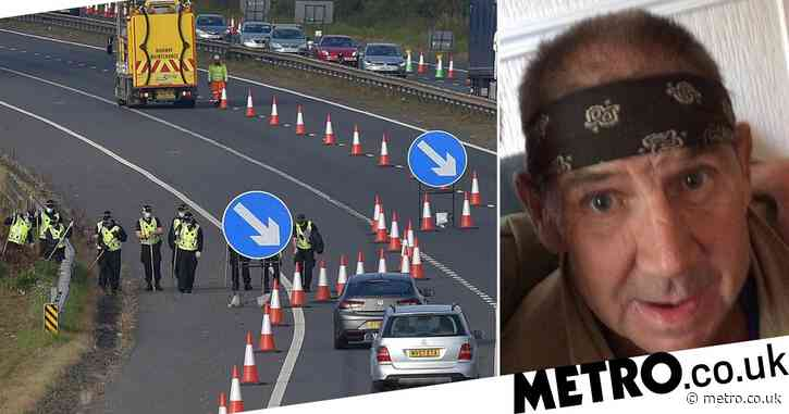 Delays on busy motorway as police search for missing man, 58