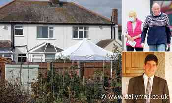Police set up tent in garden of Steven Clark's parents after pair were arrested