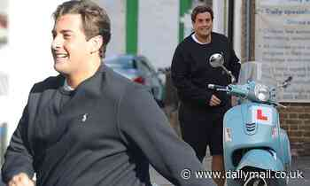 James Argent shows off his two stone weight loss in a black shirt and shorts