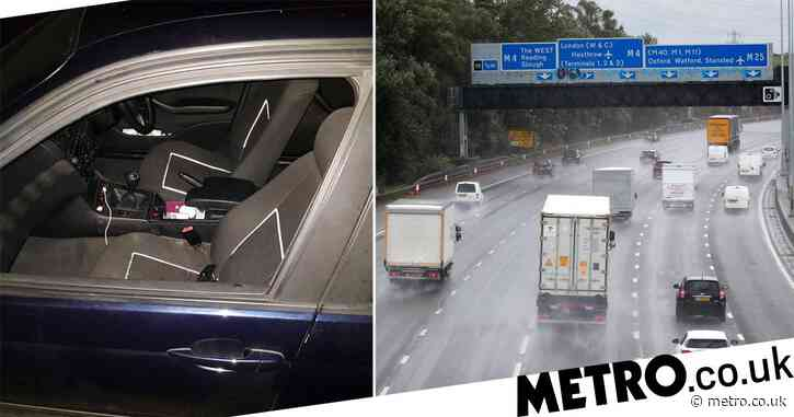 Woman falls out of moving car on motorway while filming Snapchat video