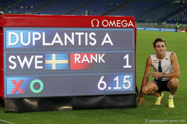 Armand Duplantis salta 6,15m e quebra recorde mundial do salto com vara na Diamond League - globoesporte.com