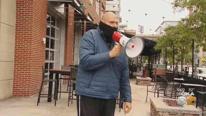 Lt. Gov. Fetterman Speaks At Pittsburgh Post-Gazette Picket Event