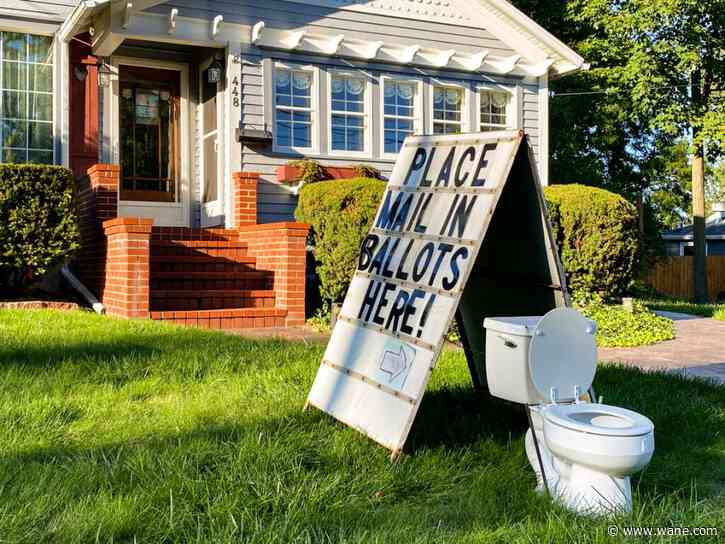 Official: Toilet display mocking mail-in voting is a crime