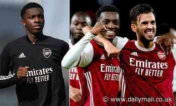 Eddie Nketiah puts pre-season bust up with team-mate Dani Ceballos behind him after Arsenal win