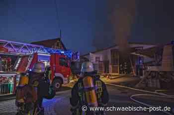 Schreinerei in Steinheim am Albuch brennt - Schwäbische Post