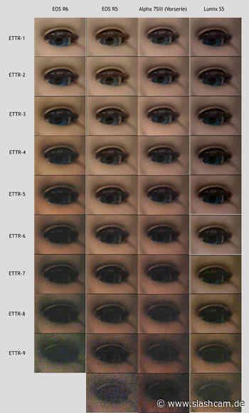 Test : Der Dynamikumfang von Canon EOS R5 / R6, Panasonic S5 und Sony A7SIII im Vergleich - slashCAM