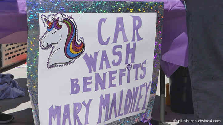 North Catholic High School Seniors Hold Car Wash For Mary Maloney