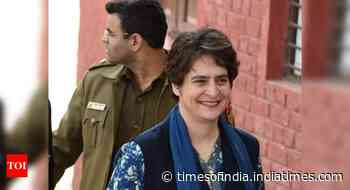 Priyanka accuses Yogi govt of dithering on giving jobs to 4,000 Urdu teachers - Times of India
