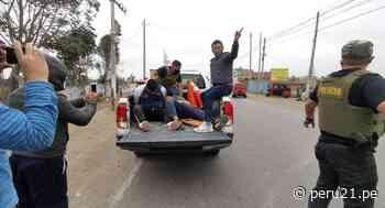 Cañete: PNP frustra asalto a grifo y captura a dos sujetos en balacera | VIDEO - Diario Perú21