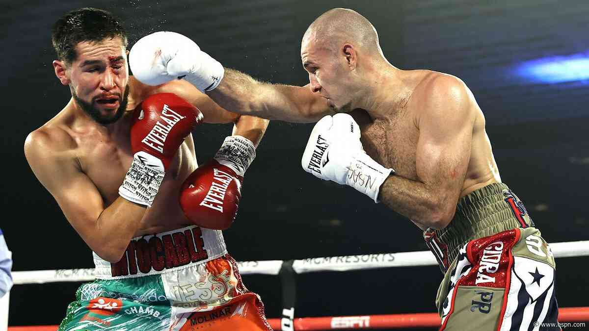 Jose Pedraza dominates Javier Molina, asks for junior welterweight title fight