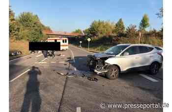 POL-PIAZ: Motorradfahrer bei Unfall verletzt