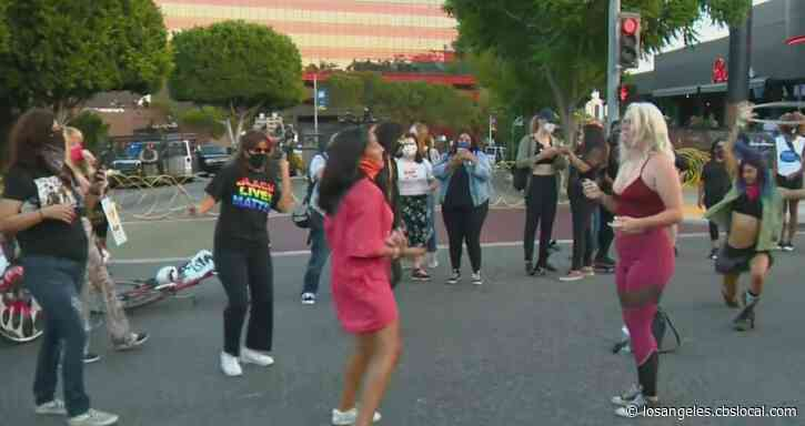 Dozens Participate In 'Dance For Black Lives' Protest In West Hollywood