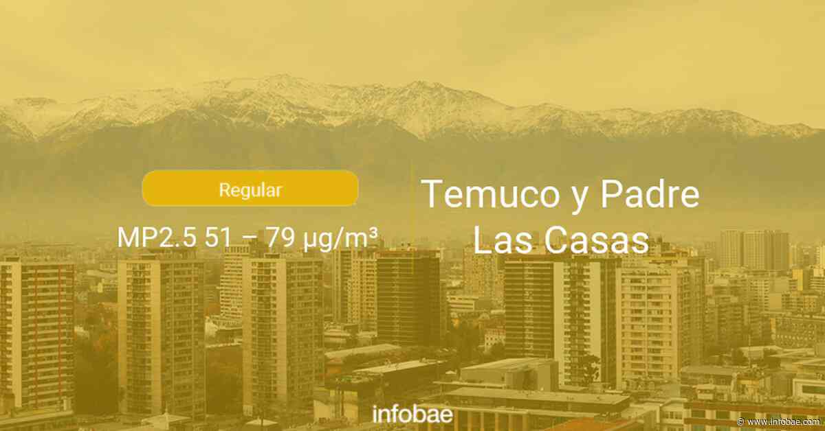 Calidad del aire en Temuco y Padre Las Casas de hoy 20 de septiembre de 2020 - Condición del aire ICAP - infobae