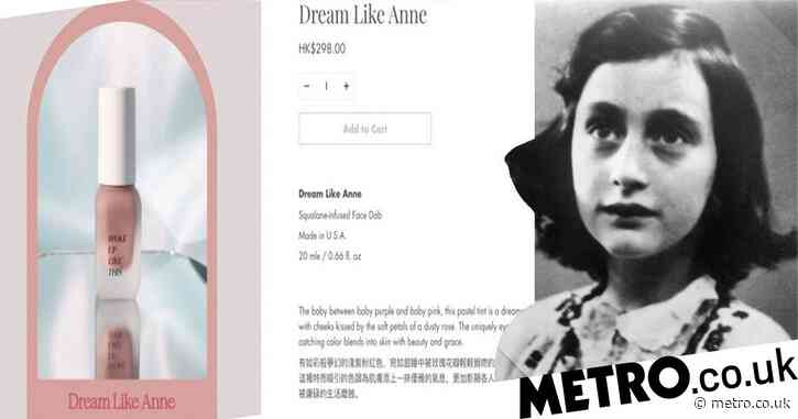 Makeup brand slammed for naming liquid blush after Anne Frank