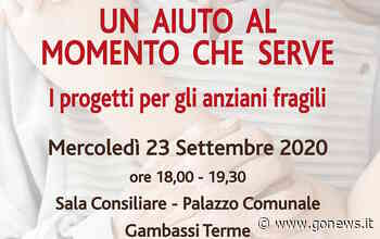 Anziani, i progetti sul territorio: evento a Gambassi Terme - gonews